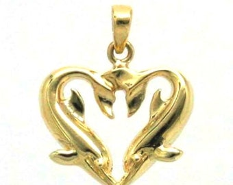 DOLPHIN CHARM in 14k Yellow Gold 9-17