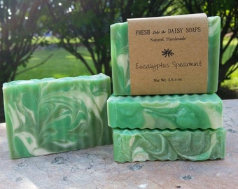 Eucalyptus Spearmint, Natural Handmade Soap, Cold Process Soap, Stress Relief, VEGAN