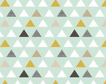 Lovey Mod Mint Triangles. Lovey. Triangle Lovey. Mint Lovey. Mini Baby Blanket. Security Blanket. Lovie. Minky Lovey.