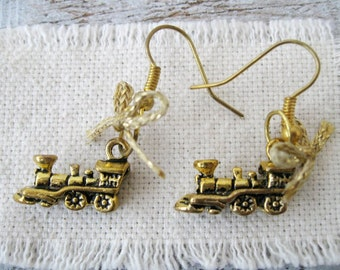 Locomotive Dangle Earrings