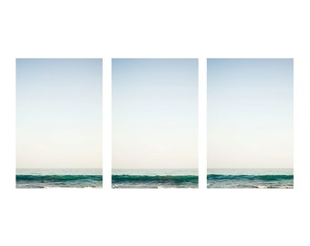 Minimalist wall art, bathroom art, ocean art, bathroom wall art, ocean wall art, coastal wall decor, white art, minimalist art, zen art