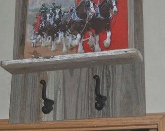 Budweiser Clydesdales Wooden Wall Shelf
