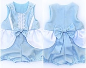 Reserved Toddler Cinderella Costume Romper Handmade Unique - Ready to Ship