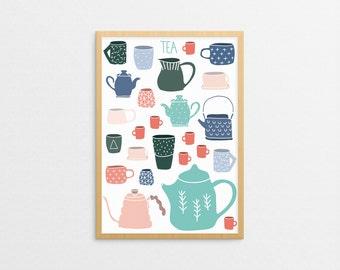 TEA print / A4 poster