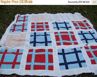 30% OFF SALE Vintage Quilt Top for Projects
