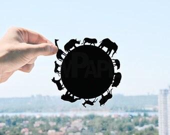 Animal Planet - Handmade Original Paper Cut Home Decor Gift - UNFRAMED