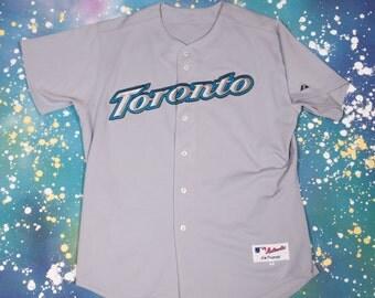 Toronto BLUE JAYS Majestic  Basketball Jersey Size XXL