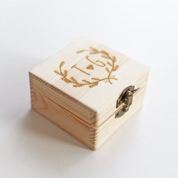 Custom ring box personalized wood box engraved box by bielyse for Custom made ring box