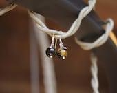 tiger's eye drop earrings