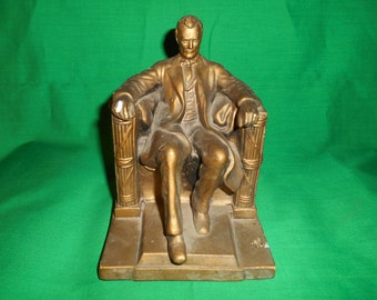 One (1), Chalkware Statue of the Lincoln Memorial, by Alexander Backer Co.
