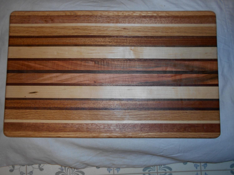 Joined Hardwood Laminated Board ~ Cutting board hardwood laminated block by craftworksmikestark