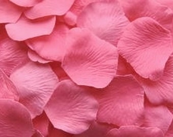 100 Pink Rose Petals Pre-Separated Faux Silk Table Scatter Petals Polyester Bubblegum Pink Rose Petals Petals Flower Petals Pink Petals