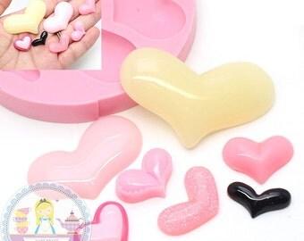 Mutiple Size Heart Set 433L Silicone Mold Gumpaste Fondant Chocolate Melte Candy Mold Cake Decoration diy jewllery BEST QUALITY