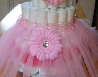 Girls Baby Shower Diaper Cake Kit; Fancy Diaper Cake; Pink Diaper Cake; Tiffany Baby Shower Themed; Ballarina Themed Shower; Wearable Access