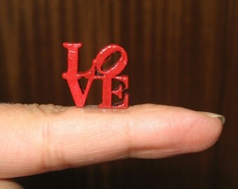 "Wooden letters ""LOVE"" handmade miniature scale 1/12 - Dollhouses Miniature scale 1:12"