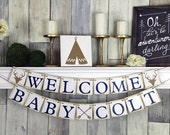 Welcome Baby Banner, Baby shower Banner, Baby Shower, Baby Shower Decor, Welcome Baby, baby Banner, Welcome Baby Sign, Rustic Baby Shower