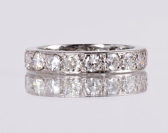Vintage Wedding Band - Vintage 1930s Platinum Diamond Eternity Band
