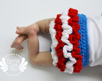 ANY COLORS Frilly Independence Day 4th of July Diaper Cover Newborn-12 Months