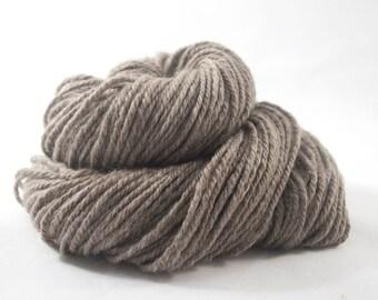 Handspun Yak Yarn, Undyed Light Brown, 136m / 148yd