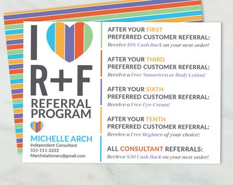Rodan and Fields Referral Card, Referral Postcard, Digital File, Custom Personalized Consultant Referral Card