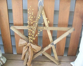 Lathe Star Primitive Decor In Fall Colors