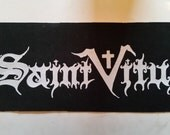 SAINT VITUS PATCH Punk BACKpatch on Black Canvas