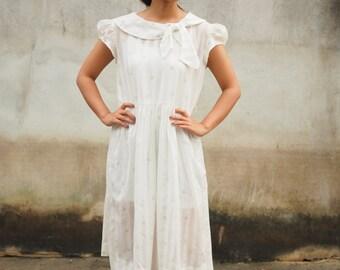 Vintage Dress, Vintage 1980s Dress, Vintage Japanese Dress, Vintage Womens Dress, Vintage Polka Dot Dress, Summer Dress, Rockabilly Dress