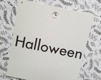 HUGE SALE Vintage 1960's Word Flash Card for Peg Board | Halloween
