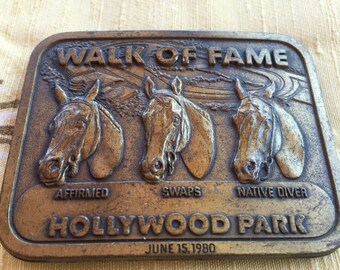 Vintage Horse Hollywood Park Belt Buckle