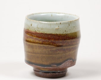 Two-glaze cup (yunomi)