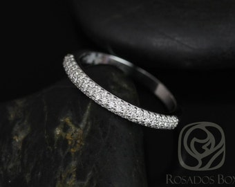 14kt Matching Band to Tasha 7.5mm Micro Pave Diamonds HALFWAY Eternity Band (Other Metals Available)