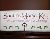 Santa's Magic Key Sign Board