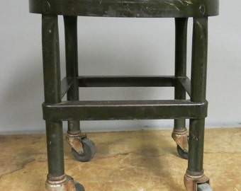 Vintage Industrial Amberg Stool