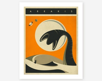 Arrakis Travel Poster Pop Art Giclee Fine Art Print Retro Sci Fi