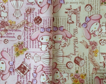 SANRIO My Melody / Japanese Fabric 110cm x 50cm