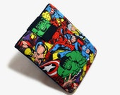 Tablet Case, iPad Cover, Avengers, Marvel Comics, iPad Mini Case, Kindle Case, Tablet Sleeve, Cozy, Handmade, FOAM Padding, Birthday Gift