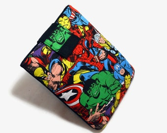 Handcrafted, Tablet Case, iPad Case, Avengers, Marvel Comics, iPad Mini Case, Kindle Case, Sleeve, Cozy, Hulk, Ironman FOAM Padding, Gift