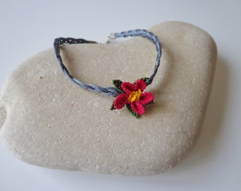 Needle Lace Bracelet,Handmade Bracelet.