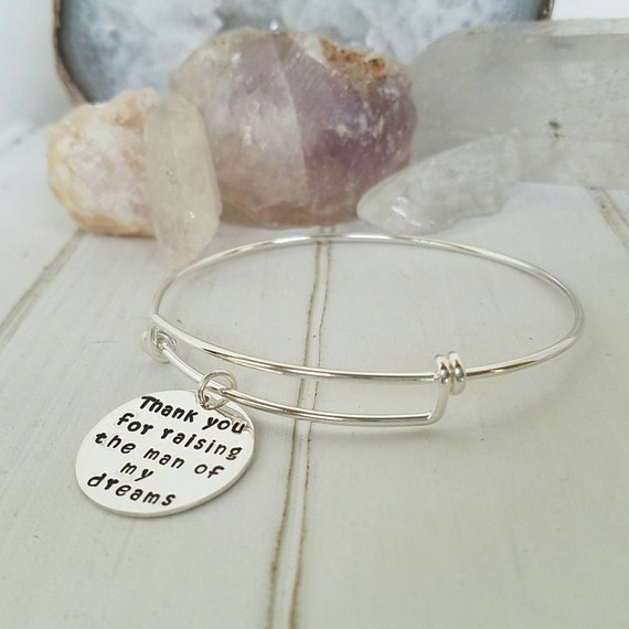 1 Expandable Charm Bracelet, Sterling Silver, Adjustable Bangle, Hand Stamped, Personalized, Custom Mommy Bracelet, Stackable Charm Bracelet