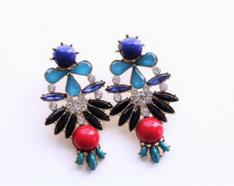 Stud Chandelier Embellished Earrings