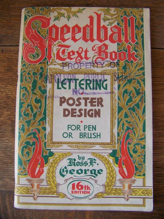 Vintage 1952 Speedball Text Book 16th Edition Antique