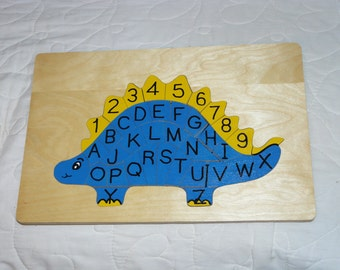 Alphabet and Number Dinosaur