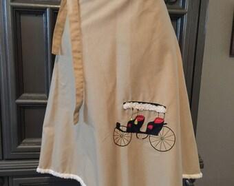 60s Novelty Applique Wrap Skirt