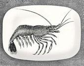 shrimp melamine serving platter