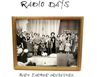 Vintage 1940s Photo - Kitsch - Old Radio Shows - Burt Farber - Cincinnati - Black and White