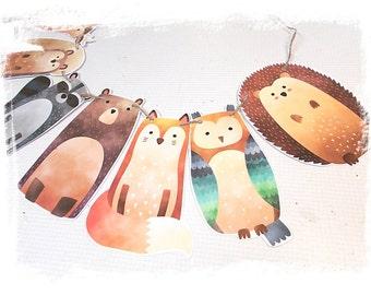 Woodland Forest Animal Banner..Baby Shower..Birthdays..Child Room Decor