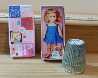 TD-12     Miniature Chatty Cathy doll <no removeable parts>  great for Barbie, collectors & dollhouses