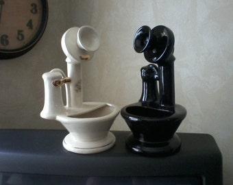 Ceramic Candlestick Telephone Planter