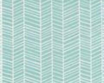 Aqua Herringbon Changing Pad Cover