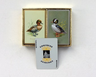 Vintage Double Deck Congress, Duck Playing Cards, Complete